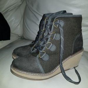 Wedge heel booties